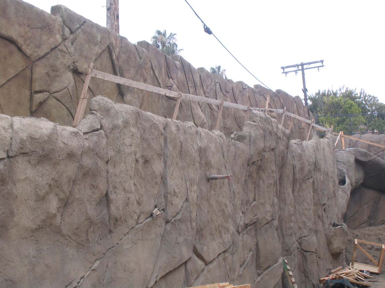 Soldier Pile/Shotcrete Retaining Wall